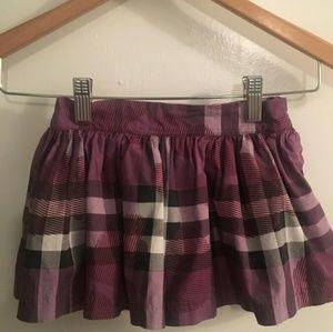 Vintage style Burberry plaid skirt kids